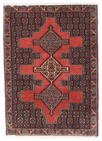 Senneh Rug 74X104 Authentic Oriental Handknotted Dark Red/Black (Wool, Persia/Iran)