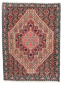 Senneh Koberec 76X100 Orientální Ručně Tkaný Tmavě Hnědá/Tmavě Červená (Vlna, Persie/Írán)