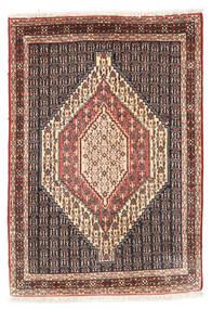 Senneh Koberec 75X107 Orientální Ručně Tkaný Tmavě Hnědá/Světle Hnědá (Vlna, Persie/Írán)
