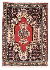 センネ 絨毯 74X102 オリエンタル 手織り 深紅色の/濃い茶色 (ウール, ペルシャ/イラン)