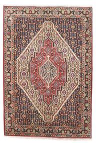Senneh Matta 75X110 Äkta Orientalisk Handknuten Mörkblå/Ljusbrun (Ull, Persien/Iran)