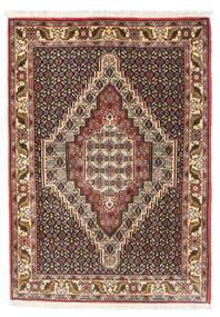 Senneh Koberec 74X107 Orientální Ručně Tkaný Světle Hnědá/Tmavě Hnědá (Vlna, Persie/Írán)