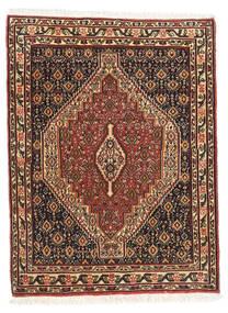 Senneh Matta 76X103 Äkta Orientalisk Handknuten Mörkbrun/Ljusbrun (Ull, Persien/Iran)