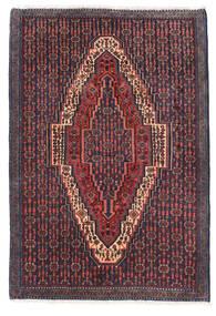 センネ 絨毯 73X105 オリエンタル 手織り 深紅色の/濃いグレー (ウール, ペルシャ/イラン)