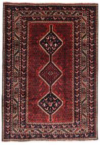 Ghashghai Matto 195X277 Itämainen Käsinsolmittu Musta/Tummanpunainen (Villa, Persia/Iran)