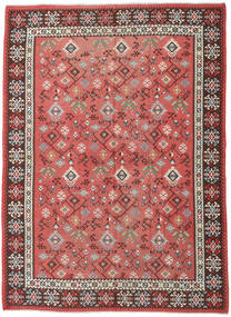 Kilim Russian Rug 230X312 Authentic  Oriental Handwoven Dark Beige/Rust Red (Wool, Azerbaijan/Russia)