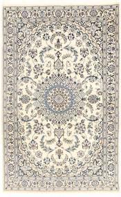 Nain 9La Teppich  112X181 Echter Orientalischer Handgeknüpfter Beige/Hellgrau (Wolle/Seide, Persien/Iran)