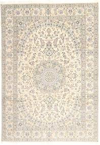 Nain 9La Alfombra 239X345 Oriental Hecha A Mano Beige/Marrón Claro (Lana/Seda, Persia/Irán)