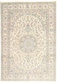 Nain 9La Rug 239X345 Authentic  Oriental Handknotted Beige/Light Brown (Wool/Silk, Persia/Iran)