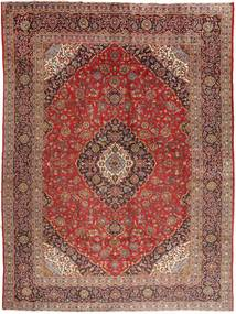 Keshan Vloerkleed 295X400 Echt Oosters Handgeknoopt Donkerrood/Donkerbruin Groot (Wol, Perzië/Iran)