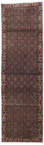 Senneh Rug 75X245 Authentic  Oriental Handknotted Hallway Runner  Dark Brown/Dark Red (Wool, Persia/Iran)