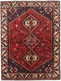 Shiraz Matta 166X220 Äkta Orientalisk Handknuten Svart/Mörkröd (Ull, Persien/Iran)