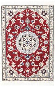 Nain 9La Tappeto 69X100 Orientale Fatto A Mano Rosso Scuro/Beige/Bianco/Creme (Lana/Seta, Persia/Iran)