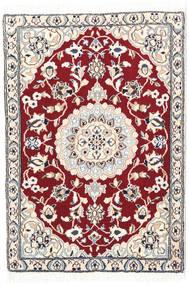 Nain 9La Dywan 70X100 Orientalny Tkany Ręcznie Beżowy/Ciemnoczerwony (Wełna/Jedwab, Persja/Iran)