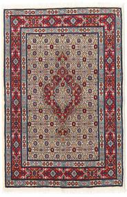 Moud Teppe 82X123 Ekte Orientalsk Håndknyttet Mørk Lilla/Brun (Ull/Silke, Persia/Iran)