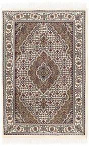 Tabriz Royal Matta 81X122 Äkta Orientalisk Handknuten Ljusbrun/Beige ( Indien)