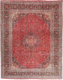 Mashad Matto 300X380 Itämainen Käsinsolmittu Tummanpunainen/Violetti Isot (Villa, Persia/Iran)