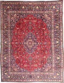 Mashad Matta 285X375 Äkta Orientalisk Handknuten Mörklila/Ljuslila Stor (Ull, Persien/Iran)