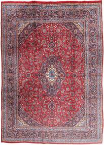 Mashad Rug 280X385 Authentic  Oriental Handknotted Dark Purple/Light Pink Large (Wool, Persia/Iran)