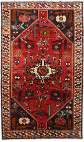 Shiraz Rug 160X260 Authentic  Oriental Handknotted Dark Brown/Rust Red (Wool, Persia/Iran)