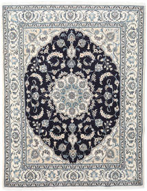Nain Rug 198X255 Authentic  Oriental Handknotted Beige/Light Grey (Wool, Persia/Iran)