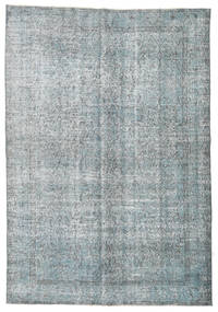 Colored Vintage Rug 174X253 Authentic  Modern Handknotted Light Grey/Dark Grey (Wool, Turkey)