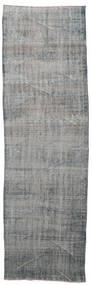 Colored Vintage Rug 112X368 Authentic  Modern Handknotted Hallway Runner  Light Grey/Dark Grey (Wool, Turkey)