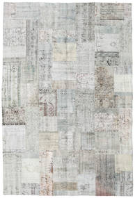Patchwork Rug 203X301 Authentic  Modern Handknotted Light Grey/Beige (Wool, Turkey)