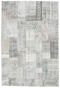 Patchwork Rug 203X302 Authentic  Modern Handknotted Light Grey/Beige (Wool, Turkey)