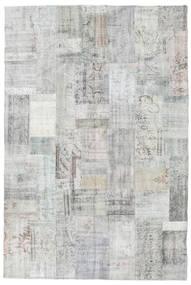 Patchwork Tapis 202X301 Moderne Fait Main Gris Clair/Beige (Laine, Turquie)
