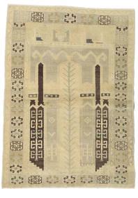 Taspinar Teppe 106X146 Ekte Orientalsk Håndknyttet Lysgrønn/Mørk Beige/Gul (Ull, Tyrkia)