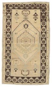 Taspinar Rug 94X163 Authentic  Oriental Handknotted Dark Beige/Light Brown (Wool, Turkey)