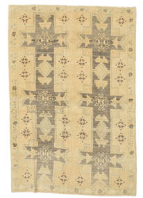 Taspinar Rug 129X190 Authentic  Oriental Handknotted Yellow/Dark Beige/Light Brown (Wool, Turkey)