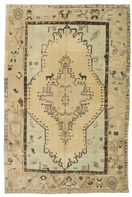 Taspinar Rug 166X251 Authentic  Oriental Handknotted Dark Beige/Light Green (Wool, Turkey)