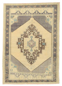 Taspinar Rug 132X190 Authentic  Oriental Handknotted Light Brown/Yellow (Wool, Turkey)