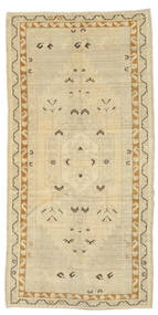 Taspinar Rug 113X227 Authentic  Oriental Handknotted Yellow/Dark Beige (Wool, Turkey)