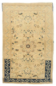 Taspinar Vloerkleed 111X173 Echt Oosters Handgeknoopt Geel/Lichtbruin (Wol, Turkije)