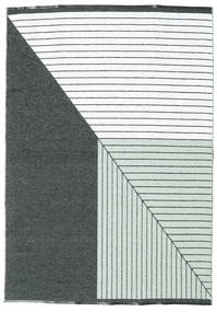 Diagonal - Musta / Vihreä-matto CVD21670