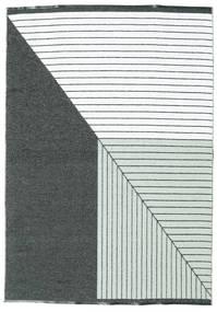 Tapete Diagonal - Preto / Verde CVD21670