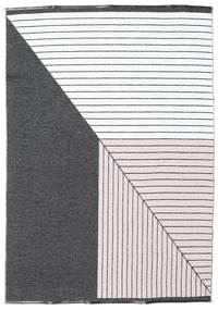 Tapis Diagonal - Noir / Rose CVD21673