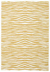 Zebra - Senfgelb Teppich  150X210 Moderner Gelb/Weiß/Creme ( Schweden)