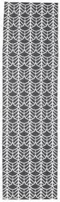 Arch - Noir Tapis 70X200 Moderne Tapis Couloir Gris Foncé/Blanc/Crème ( Suède)
