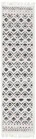 Royal - Noir/Cream Tapis 80X300 Moderne Tapis Couloir Gris Clair/Blanc/Crème ( Turquie)