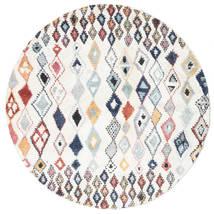 Namsos Dywan Ø 200 Nowoczesny Okrągły Beżowy/Biały/Creme ( Turcja)