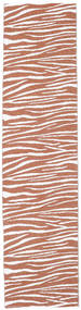 Zebra - Rust Rug 70X280 Modern Hallway Runner  Brown/Light Brown/Light Grey ( Sweden)