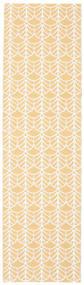 Arch - Żółty Dywan 70X250 Nowoczesny Chodnik Beżowy/Ciemnobeżowy ( Szwecja)