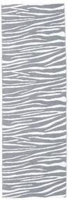Zebra - Grå Matta 70X210 Modern Hallmatta Ljusblå/Beige/Ljusgrå ( Sverige)