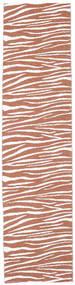 Zebra - Rozsdaszín Szőnyeg 70X210 Modern Barna/Világosbarna/Világosszürke ( Svédország)