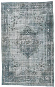 Colored Vintage Rug 192X314 Authentic  Modern Handknotted Light Grey/Dark Grey (Wool, Turkey)