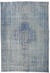 Colored Vintage Rug 201X293 Authentic  Modern Handknotted Blue/Light Grey (Wool, Turkey)
